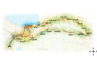 مسیر تور مشهد از تهران