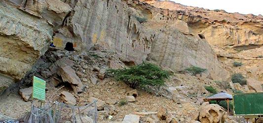 غارهای بان مسیتی دیدنیهای چابهار