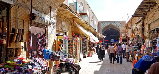 ورودیه بازار بزرگ کرمان