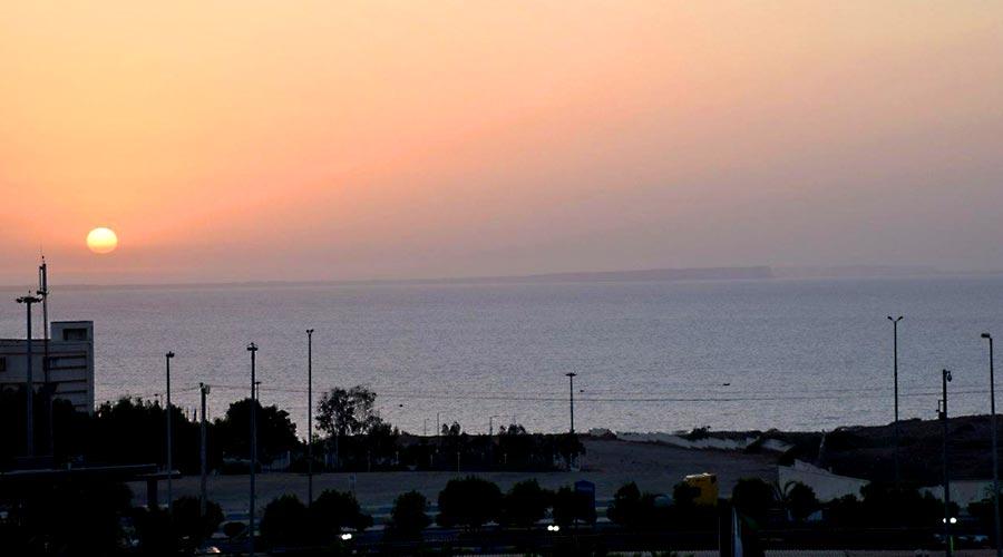منظره دریا از هتل فردوس چابهار