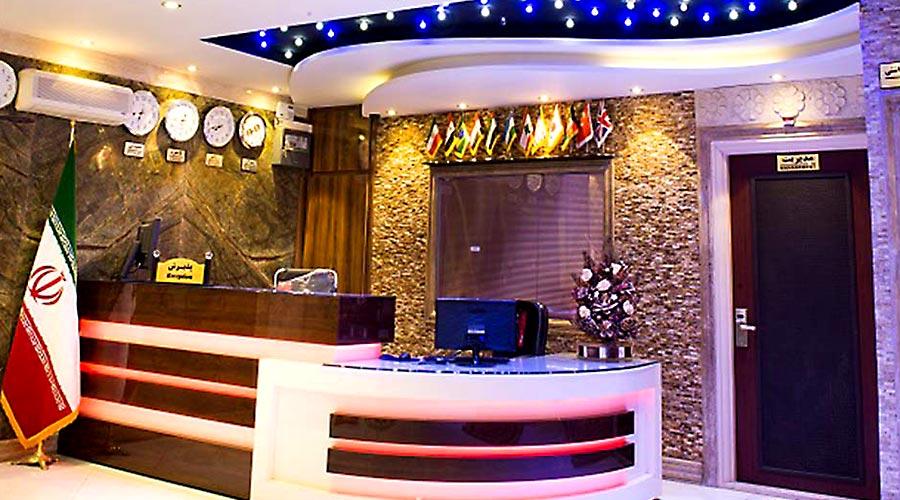 پذیرش هتل اسپینو مشهد