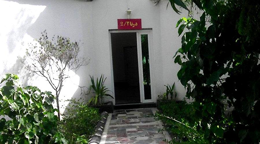 حیاط هتل سیمرغ کیش