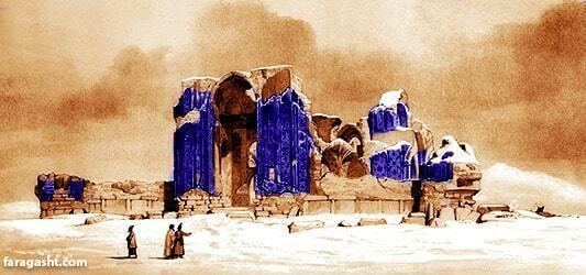 خرابی گنبد مسجد کبود تبریز