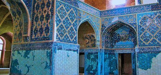 کاشی کاری های مسجد کبود