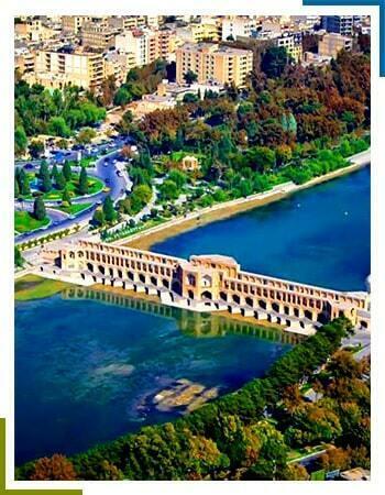 پل خواجو اصفهان از نمای بالا