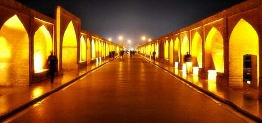 پل خواجو در شب