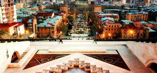 منظره بنای هزار پله ارمنستان